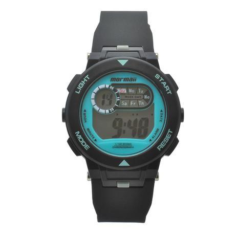Relógio de Pulso Mormaii Infantil Masculino com Pulseira de Borracha  MO0986A 8A - Preto e Azul 4a74ff1183