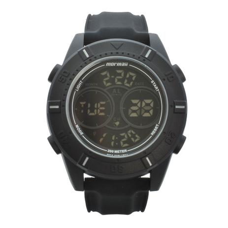 5b31d6f41048e Relógio de Pulso Mormaii Masculino Troca Pulseiras MO1608AB T8C - Preto e  Cinza de Couro