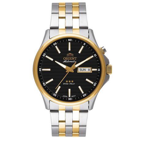 1a9fde20d28 Relógio de Pulso Orient Automático Masculino Misto 469TT043PR - Dourado e  Prata