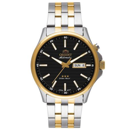 9db4bbcadc2 Relógio de Pulso Orient Automático Masculino Misto 469TT043PR - Dourado e  Prata