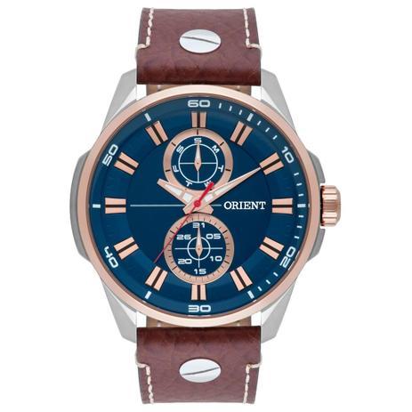 b7908f8c642 Relógio de Pulso Orient Masculino com Pulseira de Couro MTSCM004 D1MB -  Prata