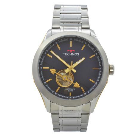 15012a7b2d4 Relógio de Pulso Technos Masculino Automático 82SOAE 1A - Prata ...