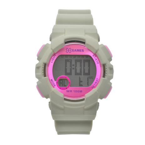6ff15187d8c2 Relógio de Pulso X-Games Feminino com Pulseira de Silicone XMPPD491 BXIX -  Cinza e Rosa - X games