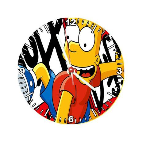 8531278ca2d Relógio Decorativo Simpsons Bart - All classics - Relógio de Parede ...
