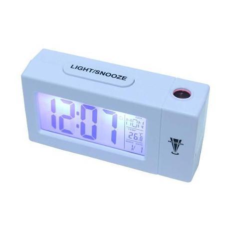 6b3bdbbbc4d Relogio despertador com projetor de horas termometro calendario com luz de  fundo atima - Paris