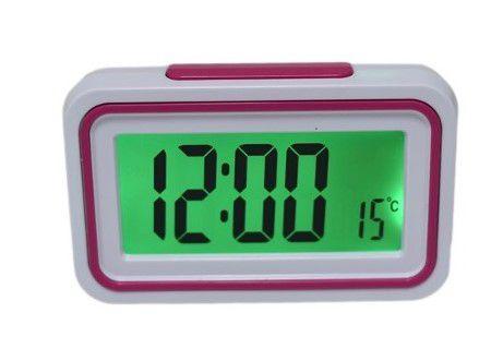 Imagem de Relogio Despertador Digital LCD Led Com Termometro Fala Hora E Temperatura