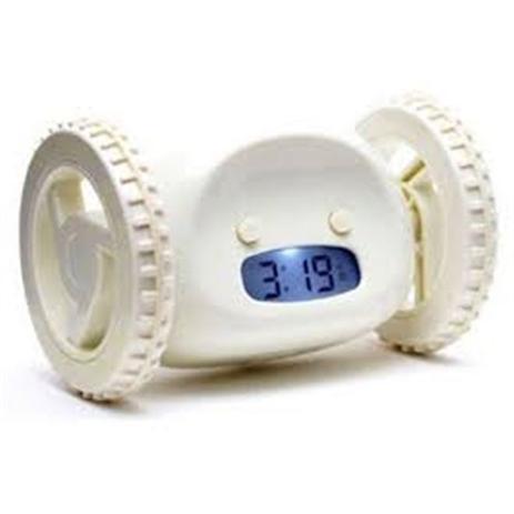 b38595fd6dd Relogio despertador digital led com rodas corre clocky fugitivo giratorio -  Gimp