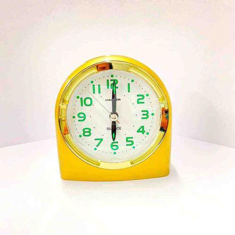 Imagem de Relógio Despertador Quartz Linea Dourado HALLER