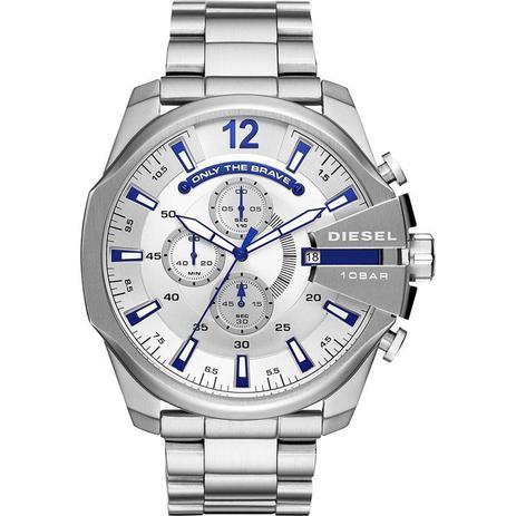 59183705b6d Relógio Diesel Masculino Ref  Dz4477 1kn Big Case Prateado - Relógio ...