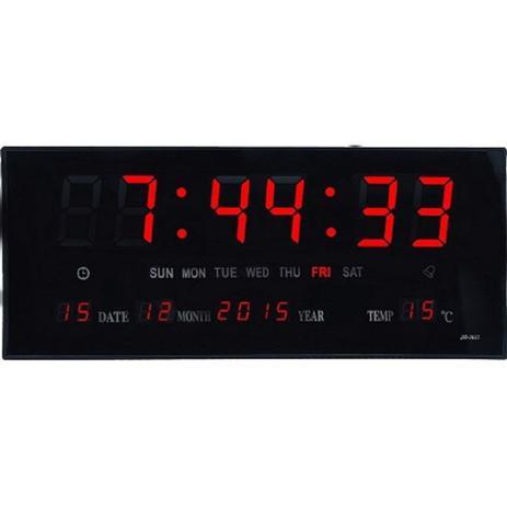 af9cb7601d8 Relogio digital led de parede com calendario termometro medidor de  temperatura alarme e despertador - Paris
