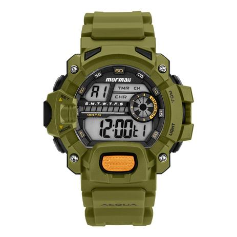 f66f5f58eb0 Relógio digital mormaii MOZM11328V VERDE - Relógio Digital ...