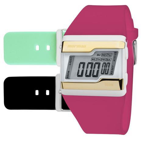 Imagem de Relógio digital Mormaii troca pulseira dourado fzv/t8q
