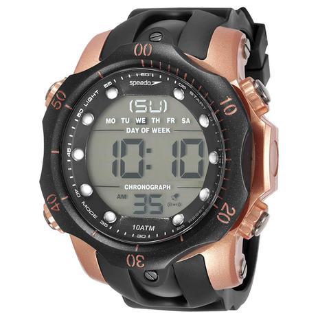 b2d5f48c4 Relógio digital Speedo masculino a prova dágua Preto Bronze ...