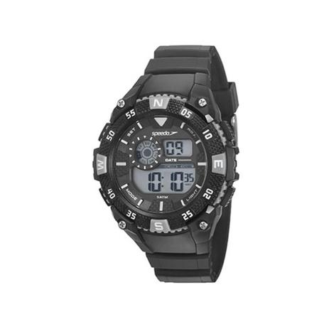 9902a0c46e0 Relógio digital Speedo masculino Esportivo Preto Prata - Relógio ...