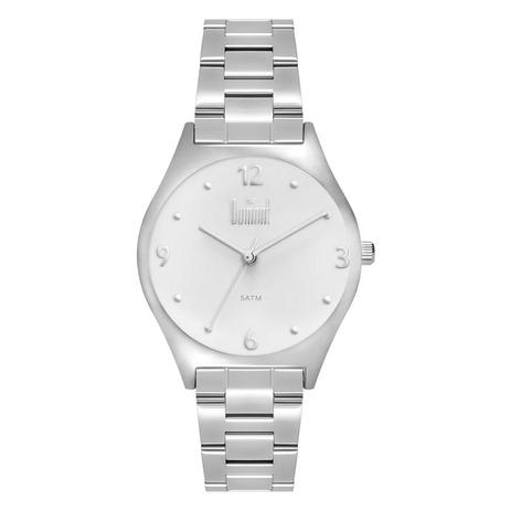 Relógio Dumont Feminino Ref  Du2035lvx 3c Casual Prateado - Relógio ... e31eac394f