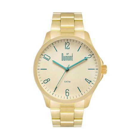 63a1ecf1462 Relógio Dumont Masculino Ref  Du2035lvu 4x Casual Dourado - Relógio ...
