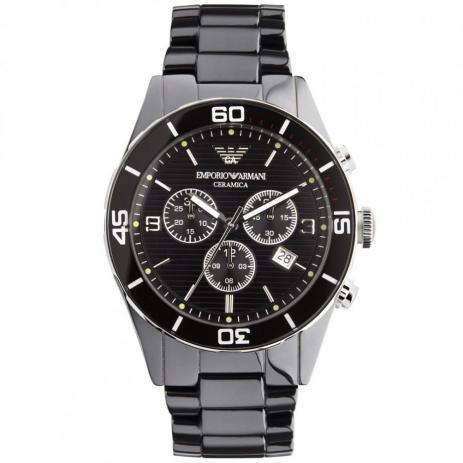 afc1c8f7a Relógio Emporio Armani Ar1421 Cerâmica fundo preto - Relógio ...