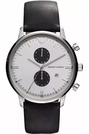 14c047564 Relógio Emporio Armani LUXO PRATA E PRETO - Relógio Masculino ...