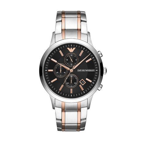1e7f18fca Relógio Empório Armani Masculino Renato Prata Ar11165/1kn - Emporio armani