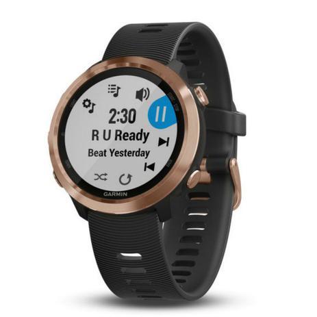 f67d4745bcd Relógio Esportivo Garmin Forerunner 645 Music Rose Dourado 010-01863-33 com  GPS e Monitor Cardíaco