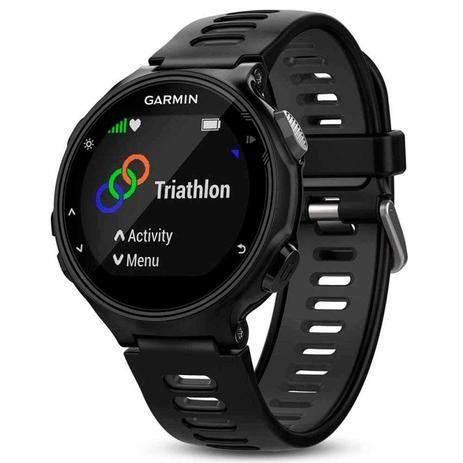 b9c076ecd84 Relógio Esportivo Garmin Forerunner 735XT Preto e Cinza com GPS e Monitor  Cardíaco
