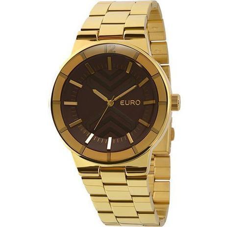 5998e8d691b Relogio Euro Feminino Analogico Fashion - Eu2036lyr 4m - Dourado ...
