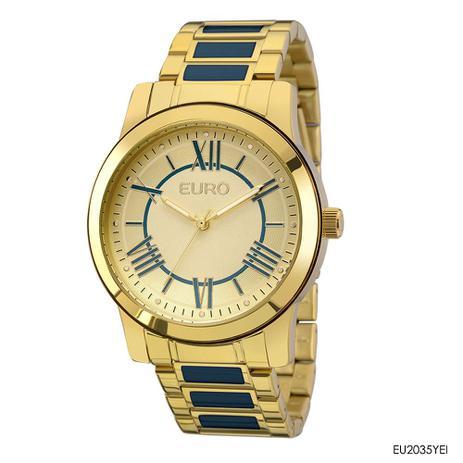 793c5e1fb9b Relógio euro feminino coleção esmaltados dourado eu2035yei - Relógio ...