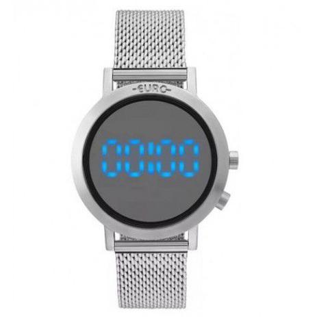 aeaebbff86668 Relógio Euro Feminino Fashion Fit Prata Aço EUBJ3407AB 3P - Relógio ...