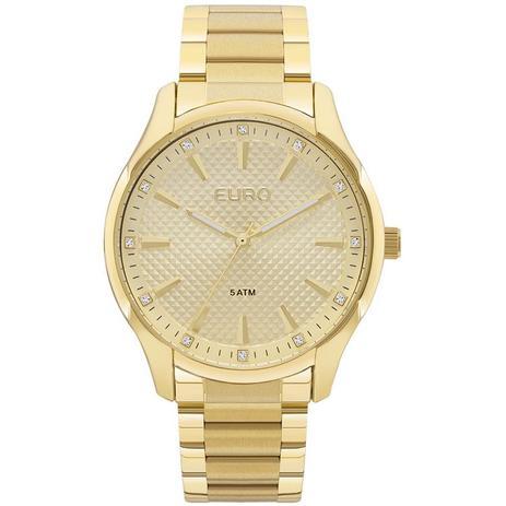 7b2d04499e0 Relógio Euro Feminino Ref  Euy121e6ab 4d Spike Road Dourado ...