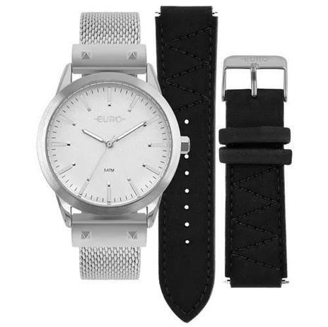 8ee0f94471d Relógio Euro Neoprene Feminino Prata Troca Pulseiras EU2035YOL 3K ...