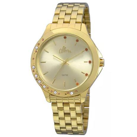 5bee4e4498310 Relógio Feminino Allora AL2035FBT 4D Dourado - Relógio Feminino ...