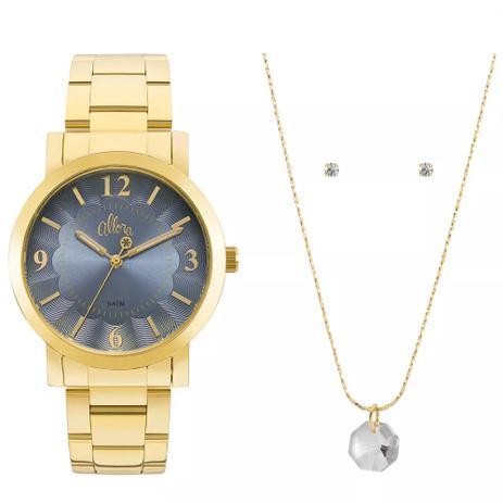 d170baab37f83 Relógio Feminino Allora Al2035fna k4a Dourado - Relógio Feminino ...