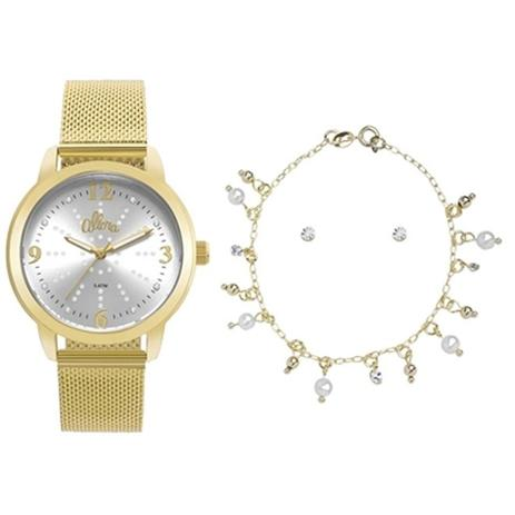 Relógio Feminino Allora Al2035fna k4d Dourado - Relógio Feminino ... 3afd153664