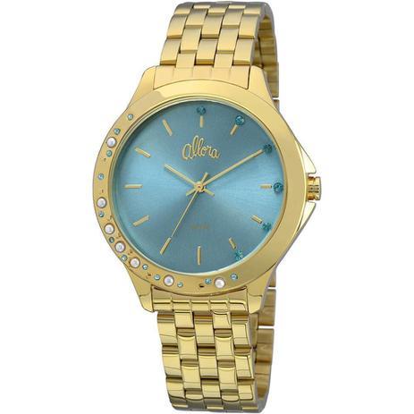 f25f60b1e77c5 Relógio Feminino Allora Analógico Fashion AL2035FBT 4A - Dourado ...