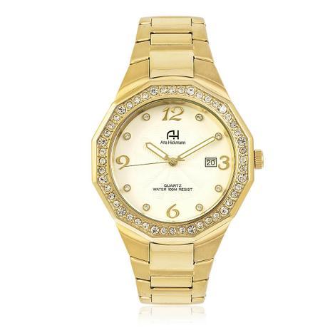 8e7cec6ad41 Relógio Feminino Ana Hickmann AH20033H Dourado - Relógio Feminino ...
