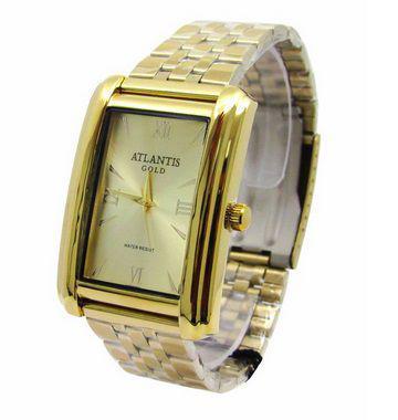 Imagem de Relogio feminino atlantis dourado g3463 fundo dourado