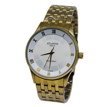 70ee6718069 Relogio feminino atlantis g3518 dourado fundo branco - Relógio ...