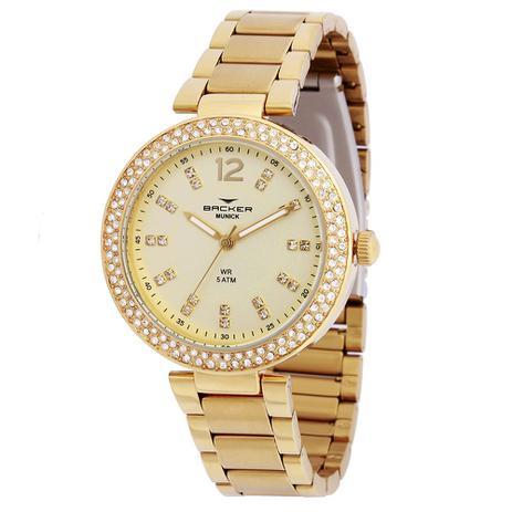 b4d4e6540fa Relógio Feminino Backer 3995145F - Dourado - Relógio Feminino ...