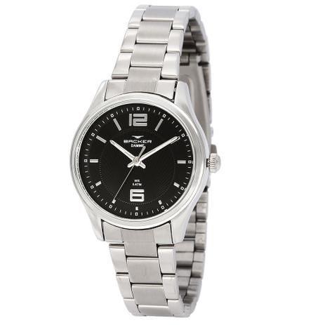 9c4736adc97 Relógio Feminino Backer Analógico 10272123F - Prata - - Relógios ...