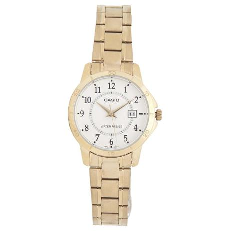Relogio Feminino Casio Analogico Collection - Ltp-v004g-7budf - Dourado c0a135f1ce
