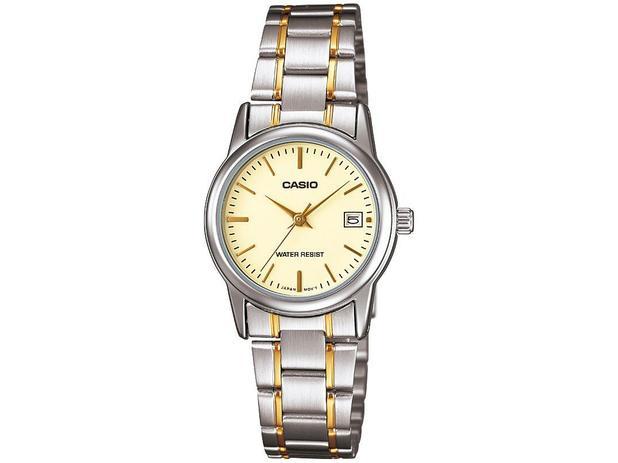 54ed8bee0a223 Relógio Feminino Casio Analógico - Collection LTPV002SG9AUDF ...