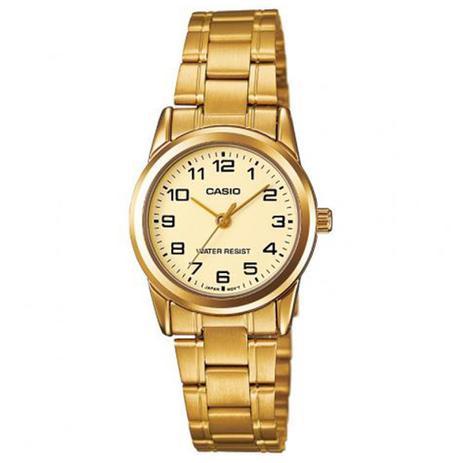 d271b0171b5 Relógio Feminino Casio Analógico LTPV001G9BUDF - Dourado - Relógio ...