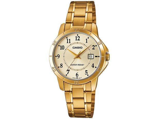 c121cf3d328 Relógio Feminino Casio Analógico Resistente à Água - Collection  LTPV004G9BUDF