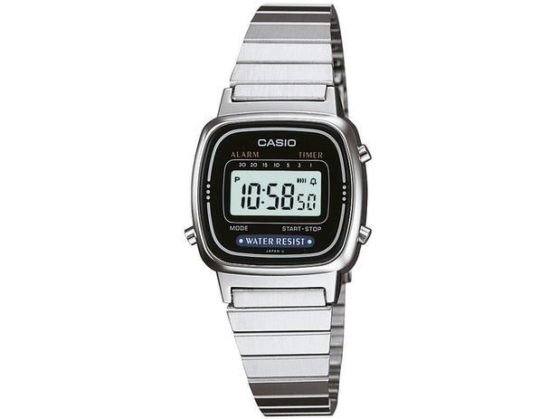 93e4f707aaa Relógio Feminino Casio Digital - LA670WA-1DF - Relógio Feminino ...
