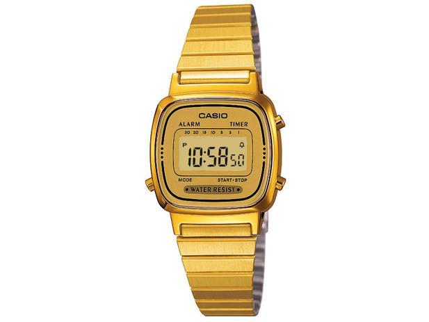 840c9b00ad8 Relógio Feminino Casio Digital - LA670WGA-9DF - Relógio Feminino ...