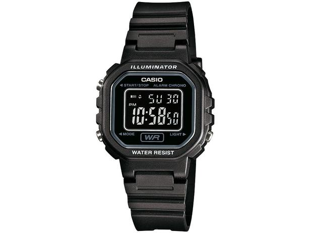 461f9fc05bc Relógio Feminino Casio Digital - Resistente à Água LA-20WH-1BDF ...