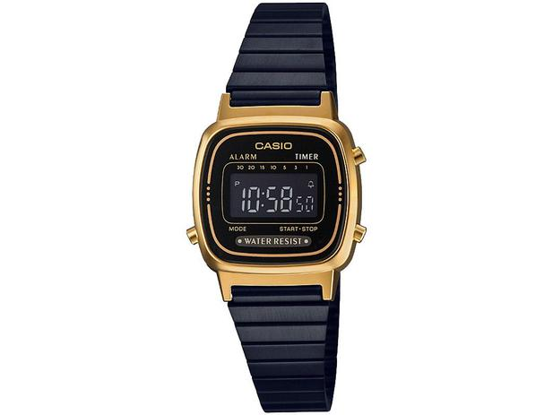 fddbcc92d13 Relógio Feminino Casio Digital Resistente à Água - Vintage LA670WEGB-1BDF