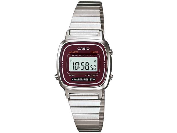 e363e58d419 Relógio Feminino Casio Digital - Vintage LA670WA-4DF - Relógio ...
