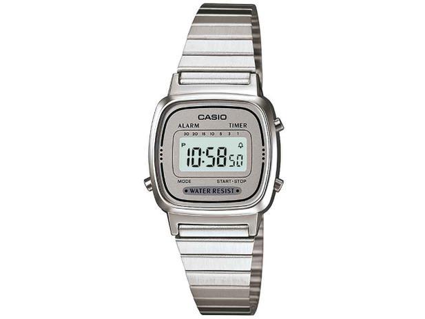 87289c34c52 Relógio Feminino Casio Digital - Vintage LA670WA-7DF