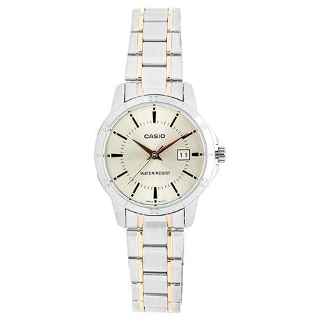 3614c1195bb Relógio Feminino Casio Ltp V004sg 9audf - Prata - Relógio Feminino ...
